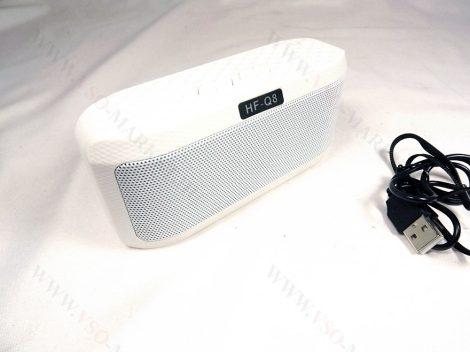 Bluetooth hangszóró, zenelejátszó, mp3 lejátszó, USB hangfal, rádió Fehér