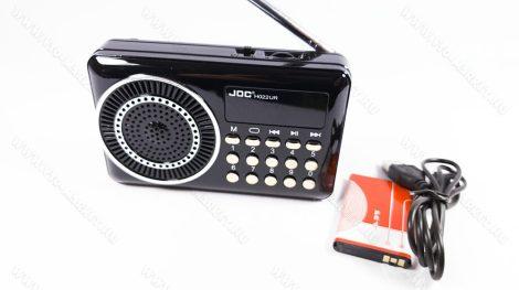 Retro hangszóró, MP3 kihangosító, multimédiás zenelejátszó, Speaker, Fekete