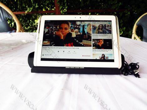 Tablet tartós Bluetooth MP3 kihangosító, zene lejátszó,  Speaker, autós, otthoni
