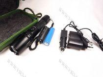 LED lámpa, zseblámpa, masszív akkumulátoros tölthető elemlámpa, T6 cree LED zoom