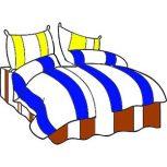 7 részes 2 színű pamut ágynemű, ágyneműhuzat garnitúra